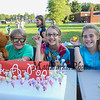 """6th grade Volunteers Max Ronner-Bland, Haylie Lewis and Hannah Abasciano work at the, """"Pick-A-Pop"""" table at the Lane Library Summer Reading Finale party and celebration on Thursday 8-3-2017 @ Centre School, Hampton, NH.  Matt Parker Photos"""
