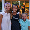 Phillips Exeter Academy freshman Caroline Luff and sisters St. Thomas freshman Isabella and No Hampton 4th grader Vanessa Williams pose for a photo at the North Hampton 275th birthday celebration on Wednesday at the town bandstand on 8-30-2017, North Hampton, NH.  Matt Parker Photos