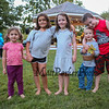A group of kids pose for a photo at the North Hampton 275th birthday celebration on Wednesday at the town bandstand on 8-30-2017, North Hampton, NH.  Matt Parker Photos