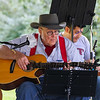 John Whiteside of the North Road Guitar Builders Band plays one of his handmade guitars at the Brentwood 275th Celebration at the Brentwood Recreation Area & Community Center on Saturday 9-16-2017, Brentwood, NH.  Matt Parker Photos