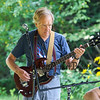 Rich Cooper of the North Road Guitar Builders Band plays his handbuilt electric guitar at the Brentwood 275th Celebration at the Brentwood Recreation Area & Community Center on Saturday 9-16-2017, Brentwood, NH.  Matt Parker Photos