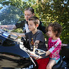 Officer Robicheau shows Matthew and Maddyson Moro of Exeter the various controls on the police motocycle at the Exeter Police and Fire Departments Open House at the Exeter Safety Complex on Saturday 9-23-2017 @ Exeter, NH.  Matt Parker Photos