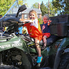 Preschooler Mallory and 1-1/2 year old brother Bruen Bullard of Exeter sit on Exeter's ATV at the Exeter Police and Fire Departments Open House at the Exeter Safety Complex on Saturday 9-23-2017 @ Exeter, NH.  Matt Parker Photos