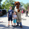 """""""McGruff"""" the crime dog poses for a photo with Preschooler Henry and 4th grade brother Jack Uden at the Exeter Police and Fire Departments Open House  Open House at the Exeter Safety Complex on Saturday 9-23-2017 @ Exeter, NH.  Matt Parker Photos"""