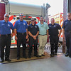 Lt. Mark Bradford, Lt. Paul Morin, Timothy Sirois, Kevin St James, Patrick Robicheau and Roger Connor pose for a photo at the Exeter Police and Fire Departments Open House at the Exeter Safety Complex on Saturday 9-23-2017 @ Exeter, NH.  Matt Parker Photos