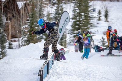 December 8, 2018  Aspen Highlands  Bob Beattie Event  Rail Jam and Slalom Relay Race  @mattpower