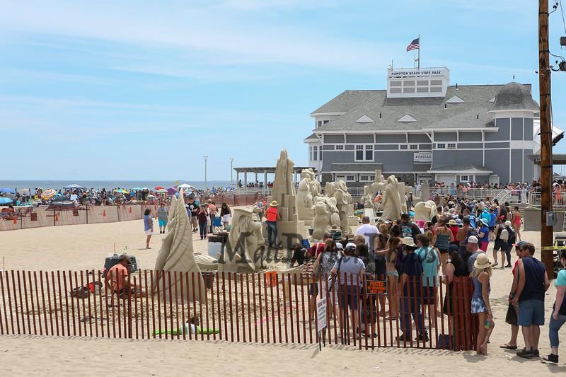 18th Annual Hampton Beach Master Sand Sculpting Classic on Saturday June 16, 2018, Hampton Beach, NH.  [Matt Parker/Seacoastonline and Fosters.com]
