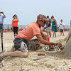 "Delayne Corbett of Vancouver Canada carves, ""Winging It"" at the 18th Annual Hampton Beach Master Sand Sculpting Classic on Saturday June 16, 2018, Hampton Beach, NH.  [Matt Parker/Seacoastonline and Fosters.com]"