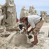 "Justin Gordon of Massachusetts carves, ""Defeating The Darkness"" at the 18th Annual Hampton Beach Master Sand Sculpting Classic on Saturday June 16, 2018, Hampton Beach, NH.  Matt Parker Photos"