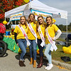 """(L to R) Miss Exeter Outsanding Teen Shay Gillis, Miss Exeter Katie Carlson, Miss Outstanding Seacoast Teen Isabel Povey and Miss Stratham Outstanding Teen Maddie Downer pose for photo infront of, """"Duck Headquarters"""" at the 2018 Exeter Powder Keg Beer & Chili Festival on Swasey Parkway sponsored by the Exeter Area Chamber of Commerce and Exeter Parks and Recreation on Saturday 10-6-2018, Exeter NH.  Matt Parker Photos"""