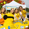 """(L to R) Miss Exeter Katie Carlson, Miss Exeter Outsanding Teen Shay Gillis, Miss Stratham Outstanding Teen Maddie Downer and Miss Outstanding Seacoast Teen Isabel Povey pose for photo infront of, """"Duck Headquarters"""" at the 2018 Exeter Powder Keg Beer & Chili Festival on Swasey Parkway sponsored by the Exeter Area Chamber of Commerce and Exeter Parks and Recreation on Saturday 10-6-2018, Exeter NH.  Matt Parker Photos"""