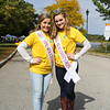 Pinkerton Academy students Miss Stratham Outstanding Teen Maddie Downer (L) and Miss Outstanding Seacoast Teen Isabel Povey pose for photo at the 2018 Exeter Powder Keg Beer & Chili Festival on Swasey Parkway sponsored by the Exeter Area Chamber of Commerce and Exeter Parks and Recreation on Saturday 10-6-2018, Exeter NH.  Matt Parker Photos