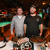 "Shane Pine with Tom McNeil of Shane's Texas Pit with their ""Shane's Texas BBQ Chili  at the 2018 Hampton Firefighters Toy Bank Annual Chili Cook Off on Thursday at Wally's Pub on 11-15-2018, Hampton Beach, NH.  Matt Parker Photos"