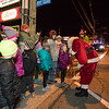 Santa Claus hands out candy canes at the 2018 Annual Christmas Tree Lighting at the Gazebo at Marelli Square sponsored by the Hampton Parks & Recreation Department on Friday Night, Hampton, NH, 11-30-2018.  Matt Parker Photos