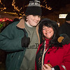 Winnacunnet senior Dylan Swain with his mom Jeanne at the 2018 Annual Christmas Tree Lighting at the Gazebo at Marelli Square sponsored by the Hampton Parks & Recreation Department on Friday Night, Hampton, NH, 11-30-2018.  Matt Parker Photos