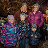 Bill and Karen Young of Hampton with their grandchildren Kiki (kg), Emily (2nd grade) and Sara (2 years old) of Amherst pose for a photo at the 2018 Annual Christmas Tree Lighting at the Gazebo at Marelli Square sponsored by the Hampton Parks & Recreation Department on Friday Night, Hampton, NH, 11-30-2018.  Matt Parker Photos