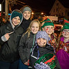 Friends pose for a photo (L to R) 10th graders Grace Georges and Alexa Kupka with fourth graders Caroline Charwat, Jula Kelly, Sydney Heestand and Avery Wood at the 2018 Annual Christmas Tree Lighting at the Gazebo at Marelli Square sponsored by the Hampton Parks & Recreation Department on Friday Night, Hampton, NH, 11-30-2018.  Matt Parker Photos