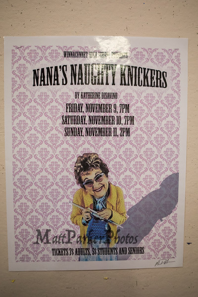 Winnacunnet High School Drama Presents Nana's Naughty Knickers by Katherine Disavino on Friday 11-9-2018 at the WHS Auditorium, Hampton, NH.  Matt Parker Photos