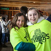 "4th graders (L to R) Ruby Stevens and Alivia Anastas pose for a photo at the Lincoln Akerman School 4th grade annual Sugaring Off Maple Syrup Party on Saturday 3-17-2018 @ the, ""LAS Sugar Shack"", Hampton Falls, NH.  Matt Parker Phtotos"