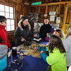 """Production of maple candy at the Lincoln Akerman School 4th grade annual Sugaring Off Maple Syrup Party on Saturday 3-17-2018 @ the, """"LAS Sugar Shack"""", Hampton Falls, NH.  Matt Parker Phtotos"""