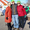 Co-Chair Leslie Ware (L) with logistics volunteers Dave and Judi Shirley pose for a photo at the 2018 Salty's St. Paddy's Day Plunge to benefit the Chris Connors Fund at York Harbor Beach on Saturday March 17th, 2018.  Matt Parker Photos