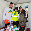 Jeff Beaudoin, Ruth Drake-Benedict and Judie Hogan pose for a photo at the registration tent at the 2018 Salty's St. Paddy's Day Plunge to benefit the Chris Connors Fund at York Harbor Beach on Saturday March 17th, 2018.  Matt Parker Photos