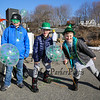 6th grader Nate Foote with 3rd graders Liam Connors and Colin McCann showing their St. Patty's Day spirit at the 2018 Salty's St. Paddy's Day Plunge to benefit the Chris Connors Fund at York Harbor Beach on Saturday March 17th, 2018.  Matt Parker Photos