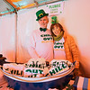 "Chris Connors brother Russell and his wife Mary with their, ""Chill Out"" shirts at the 2018 Salty's St. Paddy's Day Plunge to benefit the Chris Connors Fund at York Harbor Beach on Saturday March 17th, 2018.  Matt Parker Photos"