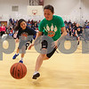 Stratham Memorial School annual 5th grade vs faculty and staff basketball game on Thursday 3-22-2018 @ SMS, Stratham, NH.  Matt Parker Photos