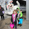 The Easter Bunny gives a wave with 3 year old Ginny and 5 year old brother Nathaiel Chevalier at the 2018 Annual Hampton Beach Easter Egg Hunt by Hampton Recreation on Saturday at Hampton Beach, NH 3-24-2017.  Matt Parker Photos