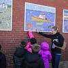 """Seabrook Elementary School presents the, """"grand unveiling"""" of the student-made mosaic murals depicting Seabrook's history in celebration of Seabrook's 250th anniversary on Friday 4-20-2018 @ SES, Seabrook, NH.  Matt Parker Photos"""