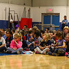 "Students and teachers waiting for the presentation to start at the Seabrook Elementary School , ""grand unveiling"" of the student-made mosaic murals depicting Seabrook's history in celebration of Seabrook's 250th anniversary on Friday 4-20-2018 @ SES, Seabrook, NH.  Matt Parker Photos"