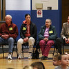 "Many of the members of  the Seabrook selectmen and various town committe members attended the ""grand unveiling"" of the student-made mosaic murals depicting Seabrook's history in celebration of Seabrook's 250th anniversary on Friday 4-20-2018 @ Seabrook Elementary School, Seabrook, NH.  Matt Parker Photos"