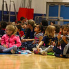 "Students waiting for the presentation to start at the Seabrook Elementary School , ""grand unveiling"" of the student-made mosaic murals depicting Seabrook's history in celebration of Seabrook's 250th anniversary on Friday 4-20-2018 @ SES, Seabrook, NH.  Matt Parker Photos"