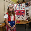 Betsy Ross AKA Natalee Perkins was best know for her design of the 1st American Flag at the Grade 4 Revolutionary War Wax Museum on Friday 5-11-2018 @ Seabrook Elementary School, Seabrook, NH.  Matt Parker Photos
