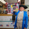 Paul Revere AKA Aydan Almeida studied Paul Revere who was an American silversmith, engraver, early industrialist, and Patriot in the American Revolution who warned the Minutemen that the  British were coming at the Grade 4 Revolutionary War Wax Museum on Friday 5-11-2018 @ Seabrook Elementary School, Seabrook, NH.  Matt Parker Photos