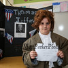 Thomas Jefferson was an American Founding Father who was the principal author of the Declaration of Independence and later served as the third President of the United States from 1801 to 1809 at the Grade 4 Revolutionary War Wax Museum on Friday 5-11-2018 @ Seabrook Elementary School, Seabrook, NH.  Matt Parker Photos