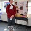 John Hancock was an American merchant, statesman, and prominent Patriot of the American Revolution at the Grade 4 Revolutionary War Wax Museum on Friday 5-11-2018 @ Seabrook Elementary School, Seabrook, NH.  Matt Parker Photos