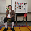 Benjamin Franklin AKA Nolan Keenan researched Benjamin Franklin a founding father of the United States and inventor at the Grade 4 Revolutionary War Wax Museum on Friday 5-11-2018 @ Seabrook Elementary School, Seabrook, NH.  Matt Parker Photos
