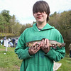 """8th grader Steven Daigle with his prize winning 14-1/2"""" trout that he caught at the 2018 Hampton Fishing Derby sponsored by the Hampton Rec Department on Saturday 5-12-2018 @ Batchelder Pond, Hampton, NH.  Matt Parker Photos"""