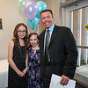 Mike Muldoon with his daughters Lauren (6th grade) and Erin (4th grade) at check in at the 1st Annual K-8th Daughter's Choice Dance sponsored by DAD (Daughters Annual Dance) committee on Saturday 5-19-2018 @ the WHS Cafeteria, Hampton, NH.  [Matt Parker/Seacoatonline]