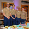 Members of The Winnacunnet MCJROTC (L to R) Andrew Voeltner, Jackson Potter, Landon Harris and Celest Stanwood volunteered their time at the 1st Annual K-8th Daughter's Choice Dance sponsored by DAD (Daughters Annual Dance) committee on Saturday 5-19-2018 @ the WHS Cafeteria, Hampton, NH.  [Matt Parker/Seacoatonline]