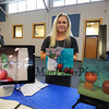 Student Nikki Tredwell displays a sample of the works of art she created under the guidance of Sydney Bella Sparrow in her ELO in Art-Sanctuary Arts at the Winnacunnet High School ELO (Extended Learning Opportunities) Exhibition Night on Thursday 5-3-2018 @ WHS cafeteria, Hampton, NH.  Matt Parker Photos