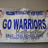 Warrior banner at the Winnacunnet High School presents ELO (Extended Learning Opportunities) Exhibition Night on Thursday 5-3-2018 @ WHS cafeteria, Hampton, NH.  Matt Parker Photos