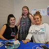 Students (L to R) Grace Tiberia, Lauren Considine and Emily McDonald at the Winnacunnet High School presents ELO (Extended Learning Opportunities) Exhibition Night on Thursday 5-3-2018 @ WHS cafeteria, Hampton, NH.  Matt Parker Photos