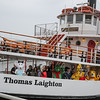 "The characters wave to the children as they arrive on the M/V Thomas Laighton where they were picked up on ""Character Island"" at the start of Children's Day 2018 on Sunday 5-6-2018, Portsmouth, NH.  Matt Parker Photos."