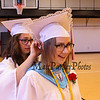 Allison Brann gets her cap afixed by Rosemary Campanella prior to the march at the 115th, Wells High School Class of 2018 Graduation Ceremony on June 10, 2018, 1:00 PM, Wells, ME.  [Matt Parker/Seacoastonline]