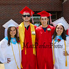 (L to R) Isabelle Sossei, Tim Bullard, Matt Buonanno and Bryn Heyland pose for a photo prior to the march for the 115th, Wells High School Class of 2018 Graduation Ceremony on June 10, 2018, 1:00 PM, Wells, ME.  [Matt Parker/Seacoastonline]