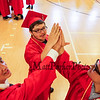 (L to R) Quentin Curtiss, Tyler McDonnell and Matt Myers celebrating their friendship and graduation at the 115th, Wells High School Class of 2018 Graduation Ceremony on June 10, 2018, 1:00 PM, Wells, ME.  [Matt Parker/Seacoastonline]