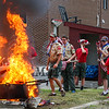 Flag Day 2018, flag burning ceremony, retiring the American flag with distinction and honor presented by Hampton's Post 35 and scouts from Troop 177 with the Hampton Fire Department on Wednesday 6-13-2018 @ Hampton, NH.  Matt Parker Photos